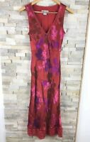 Monsoon Ladies Size 10 Red Floral Sequin Embellished Maxi Dress