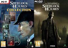 Sherlock Holmes Collection (5 jeux) et le testament de Sherlock Holmes
