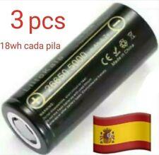 3 Pilas Lii-50A 26650 recargable de 5000mAh 3,7 v