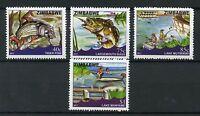 Zimbabwe 2017 MNH Fishing 4v Set Fish Fishes Lakes Mutirikwi Mayame Stamps
