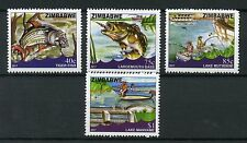 Zimbabwe 2017 MNH Fishing 4v Set Fish Fishes Lakes Mutirikwi Mayame Stamps