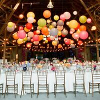 "Paper Wedding Lanterns Lamp Round Pom Party Decoration 6"" 8"" 10"" 12"" 14"" 16"" 18"""