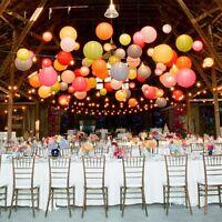 "Paper Wedding Lanterns Lamp Round Pom Party Decoration 6"" 8"" 10"" 12"" 14"" 16"" 18"""