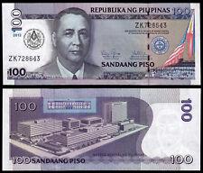 PHILIPPINES 100 PISO (P214) 2012 COMMEMORATIVE ISSUE FREE MASONS UNC