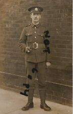 WW1 soldier Northants Northamptonshire Regiment webbing belt