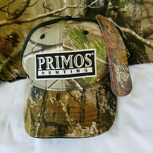 Realtree 2XL T-Shirt & Primos Hat Adjustable Cap Camo Camouflage Big & Tall Mens
