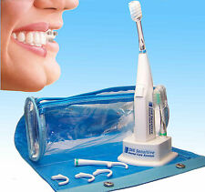 Ortho Sonic Powered Toothbrush and Power Floss System adapts to Teeth and Braces