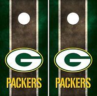 Green Bay Packers Cornhole Board Decal Wrap Wraps (grunge)