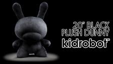 Kidrobot Dunny Plush BLACK 20 Inch Figure NEW Urban Collectible RARE