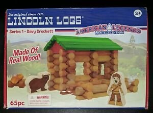 Lincoln Logs American Legends Limited Ed. Davy Crockett Set - 65 Piece Complete