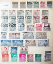 Antiguo España sellos de página libro de stock utilizado