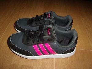 Adidas VS Switch 2, Black & Pink girls trainers size 13