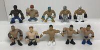 """WWE Rumblers Lot of Ten Mattel 2"""" Wrestling Figures"""