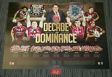 QUEENSLAND MAROONS STATE OF ORIGIN DECADE OF DOMINANCE SIGNED LIMITED NRL PRINT