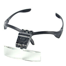 2LED 5 Lens Magnifier Magnifying Headband Eye Glass Loupe Jeweler Watch Repair