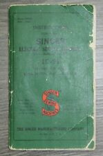 Vintage Original 1941 Singer 15-91 Sewing Machine Instruction Manual