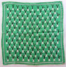 Silk Scarf Square Magic Hat Bunny Green Black White 17 Inches