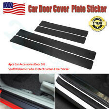 Protector Sill Scuff Cover Car Door Plate Sticker 3D Carbon Fiber Anti Scratch