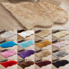 Soft Sheepskin Area Fluffy Faux Fur Fake Carpets Home Bedroom Washable Mat Rugs