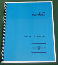 HP 3457A Operating Manual: Comb Bound & Protective Covers