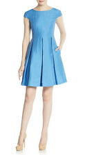 Max Mara, Weekend, Cornflower blue silk and linen fit and flare dress was £225