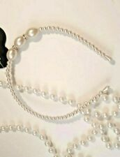 Lovely Sparkly Pearl Alice Band Flower Girl Bridesmaid Ivory & Stones Headband