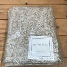 And So To Bed Paisley Fitted Sheet  205 x 205 cm