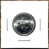 Canada 1967 Centennial Silver Bobcat Quarter Choice BU Uncirculated Quarter!!