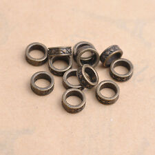 50Pcs Tibetan Silver Tube Charms Spacer Beads Jewelry Findings 7.5MM