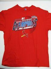 St Louis Cardinals 2015 Central Division Champions Baseball T-Shirt Size XL