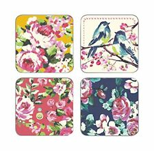 Cooksmart Oriental Patchwork Coasters Pack of 4 Drink Mats Vintage Retro Style