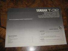 Yamaha T-32 Natural Sound Am/Fm Stereo Tuner Original Owner's Manual
