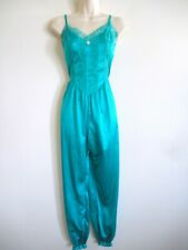 Vintage Teal Bloomer Style Lingerie Night Wear COLESCE Collection Sz SMALL