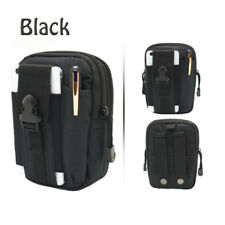 Multifunctional Multicolor Outdoor Waist Bag Waterproof Nylon Pack Phone Pocket Black