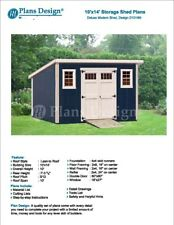 Modern Roof Style 10' x 14' Deluxe Shed Plans, Design #D1014M, Material List