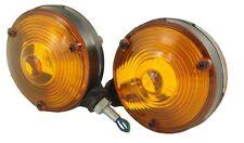 PAIR  AMBER/ORANGE MIRROR LAMP/LIGHTTRUCKS LAMP AMBULANS TRANSPORTER