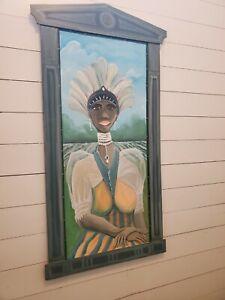 "LISA BOYKIN ADAMS Southern Primitive Folk Art Painting 28""X49"""