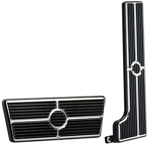 BILLET SPECIALTIES BLACK ANODIZED PEDAL KIT,GAS & BRAKE PEDALS,58-67 AUTOMATIC