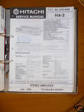 Manuel de service pour hitachi HA-2 AMPLIFICATEUR, original