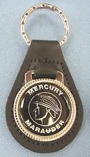 Rare S-55 Vintage Black Mercury MARAUDER Leather Keyring Key Fob 1969 1970