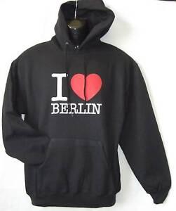 Kapuzen Sweatshirt * I Love Berlin bedruckt  S - XXL