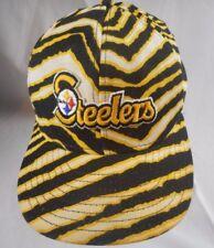 Vintage Pittsburg Steelers ZUBAZ TIGER STRIPE Snapback Hat Made in USA