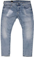 New G-Star Raw Mens Jeans 3301 Slim Fit in Light Aged Colour Size W:40 L:34