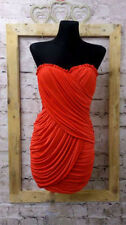 Polyester Regular Size Dresses for Women with Strapless/Bandeau