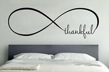 THANKFUL INFINITY LOVE Wall Art Decal Quote Words Lettering Home Decor DIY