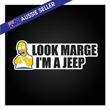 Look Marge I'm a JEEP Sticker - Hilux Ranger BT50 Diesel Soot Funny 4WD Springs