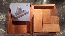 casse tête bois double tangram cube
