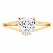 1.50ct Heart Cut Classic Engagement Bridal Solitaire Ring 14k Yellow Gold