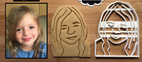 Custom Portrait Cookie Cutter, Personalized with Your Face, Perfect for Birthday