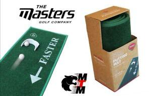 GOLF PUT MATT/MASTERS/Putting Mat  Portable Training+FREE PUTTING Cup duel speed